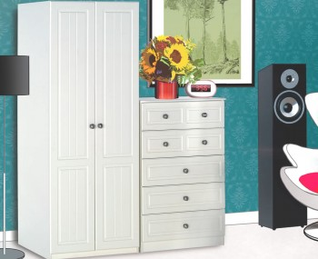 Toliara Cream 2 Door Wardrobe