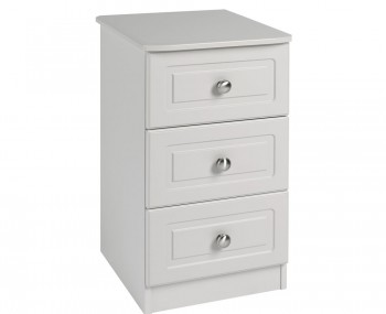 Toliara Cashmere 3 Drawer Bedside Chest