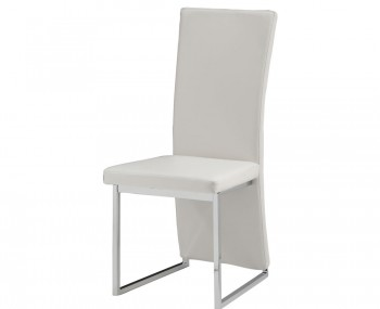 Langton White Faux Leather Dining Chair