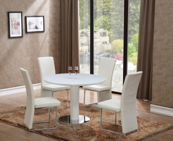 Langton Round Glass Dining Table and Chairs