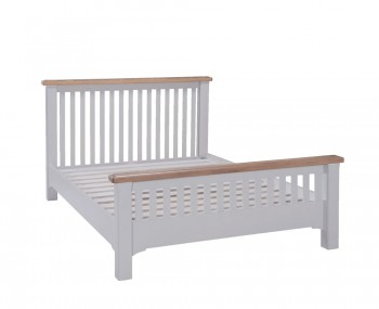 Everette Two-Tone Slatted Bed Frame