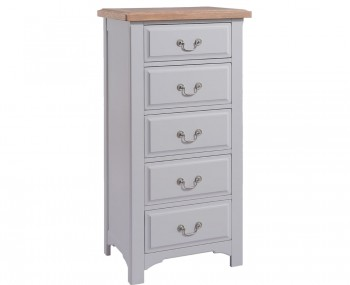 Everette Two-Tone 5 Drawer Tall Chest