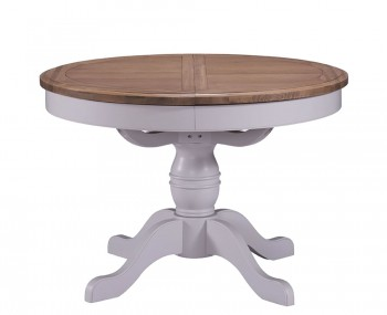 Everette Two-Tone Round Extending Dining Table