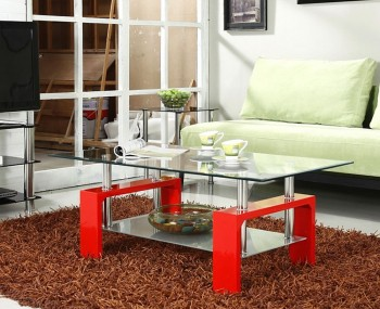 Speight Red Glass Coffee Table