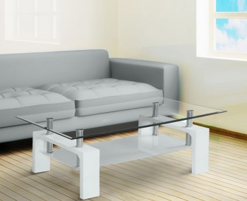 Speight White Glass Coffee Table