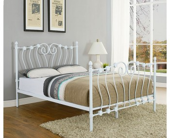 Crosby White Metal Bed Frame