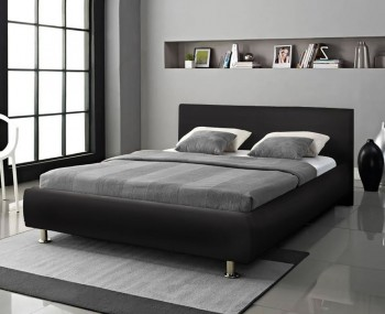 Weymouth Black Faux Leather Bed