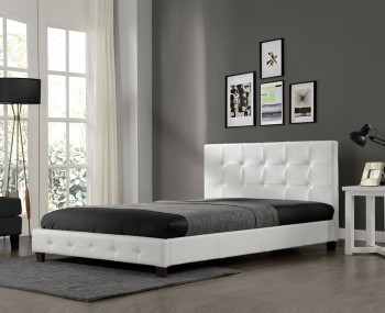 Wootton White Faux Leather Bed Frame