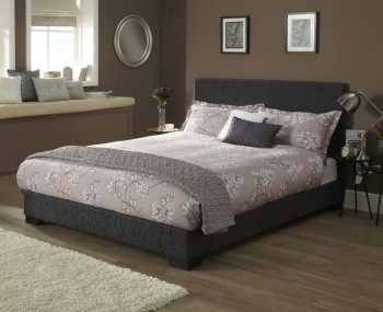 Nora Graphite Fabric Bed Frame