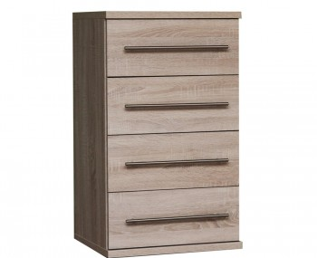 Henderson Light Oak 4 Drawer Narrow Chest