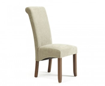 Haycroft Sage Fabric and Walnut Dining Chairs