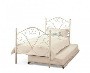 Isabella White Metal Guest Bed