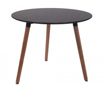 Morello Black Round Dining Table