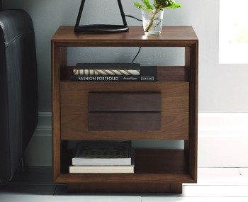 Rayton Walnut Lamp Table with Drawer