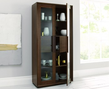 Rayton Walnut Display Cabinet