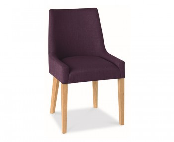 Ella Oak And Plum Upholstered Dining Chairs