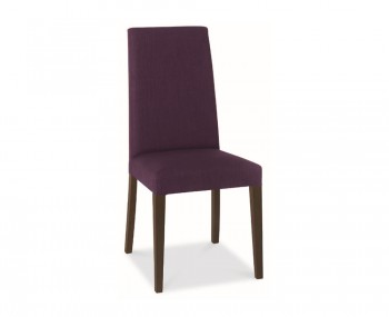 Miles Walnut And Plum Upholstered Dining Chairs