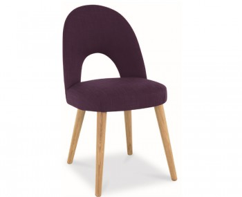 Orbit Plum Upholstered Dining Chairs