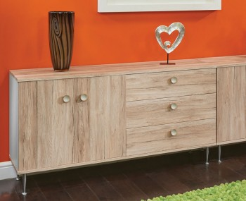 Bardot Oak and Kaschmir Large Sideboard