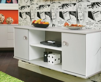 Bardot Kaschmir and White Sliding Door TV Unit