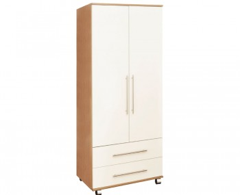 Watson High Gloss 2 Door 2 Drawer Wardrobe