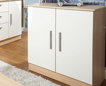 Delaware Cream and Elm 2 Door Sideboard