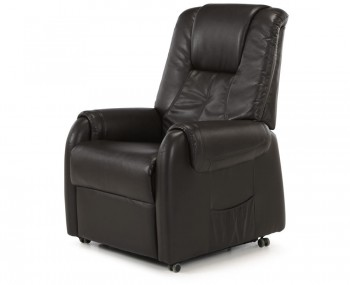 Dolmino Brown Faux Leather Riser Recliner Chair