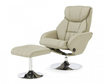 Farris Taupe Faux Leather Recliner Chair
