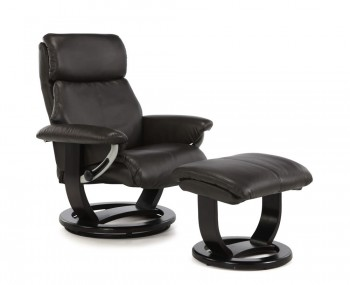 Ivalo Dark Brown Bonded Leather Recliner Chair