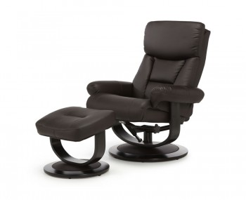 Jordan Brown Bonded Leather Recliner Chair