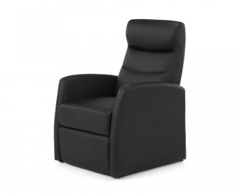 Thomson Black Faux Leather Manual Recliner Chair