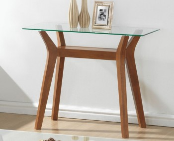 Newport Walnut and Glass Console Table