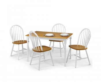 Holstein White and Oak Dining Set