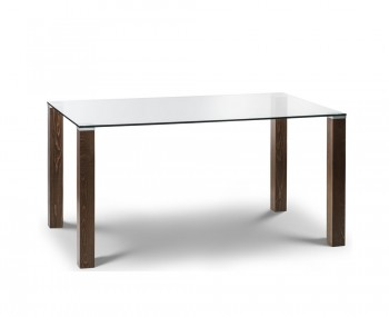 Northaven Walnut and Glass Dining Table