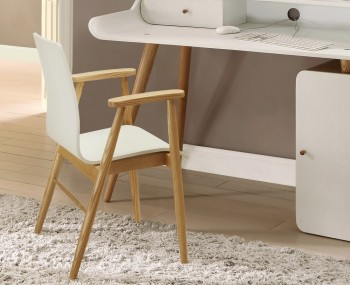 Preston White Ash Desk Chair