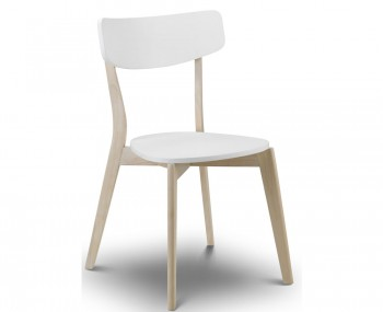 Madeira White Lacquer Dining Chair