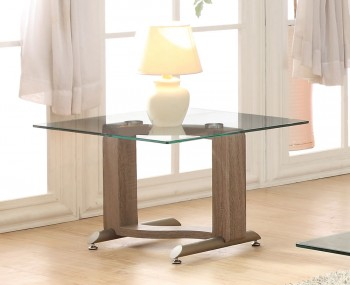 Garvey Wood Effect and Glass Lamp Table