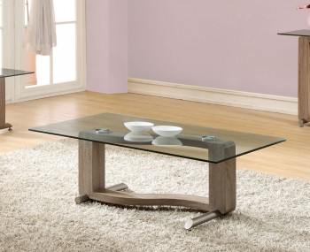 Garvey Wood Effect and Glass Coffee Table