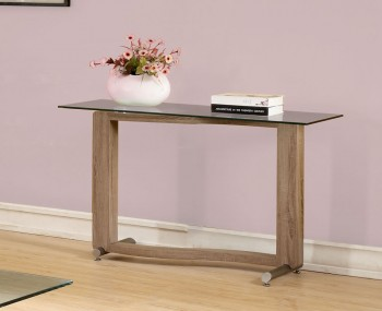 Garvey Wood Effect and Glass Console Table