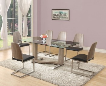 Garvey Wood Effect and Glass Dining Table and Chairs