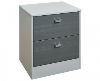 Jeremiah Rustic Slate and Kaschmir 2 Drawer Bedside Chest
