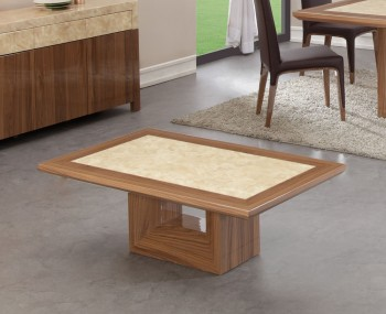 Pryor Marble and Walnut Effect Coffee Table