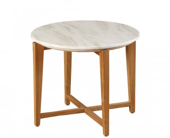 Braydon Oak and Marble Effect Lamp Table