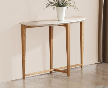 Braydon Oak and Marble Effect Console Table