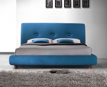 Dega Blue Upholstered Bed Frame