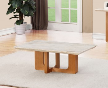 Aldous Marble and Oak Effect Coffee Table