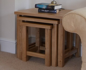 Roche Solid Oak Nest of Tables