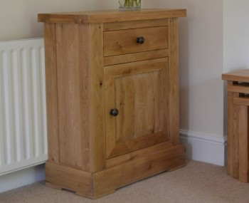 Roche Solid Oak 1 Drawer 1 Door Cupboard