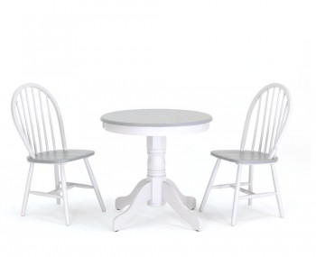 Ryder Two-Tone Round Breakfast Table and Chairs