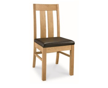 Lyon Oak Slatted Dining Chairs